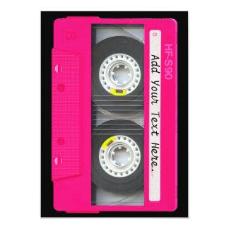 Customizable Girly Pink Cassette Tape 13 Cm X 18 Cm Invitation Card