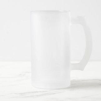 Customizable glass BEER mug