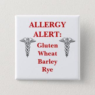 Customizable Gluten Allergy Button