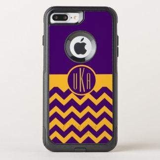 Customizable Gold and Purple Monogram OtterBox Commuter iPhone 8 Plus/7 Plus Case