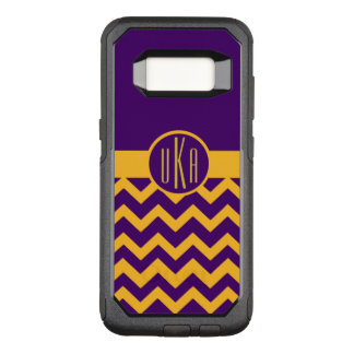 Customizable Gold and Purple Monogram OtterBox Commuter Samsung Galaxy S8 Case