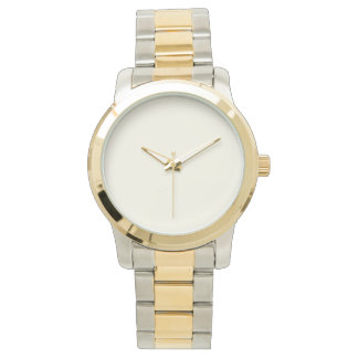 Customizable Gold and Silver Tone Watch