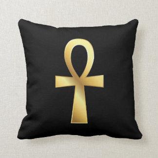 Customizable Gold Ankh Egyptian Symbol Pillow