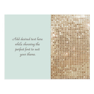 Customizable Gold Sequins Postcard