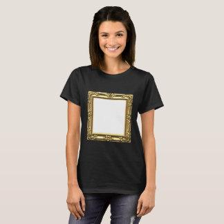 Customizable Golden Baroque Frame T-shirt