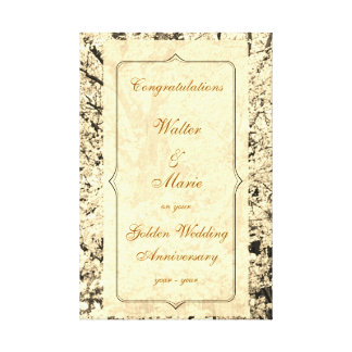 Customizable Golden Wedding Anniversary Canvas Print