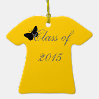 Customizable Graduation - Black and Gold Butterfly Ornaments