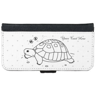 Customizable Greek Tortoise iPhone Wallet Case