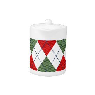 Customizable Green and Red Argyle