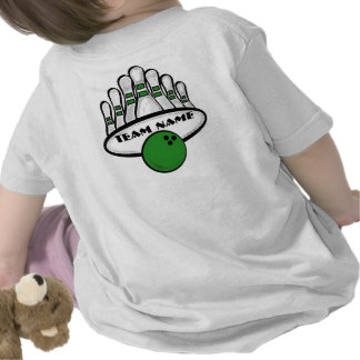 Customizable green bowling team infant tee