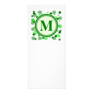 Customizable Green Spots Monogram Custom Rack Card