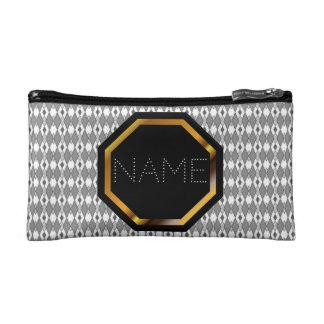 Customizable Grey Aryle Cosmetics Bag