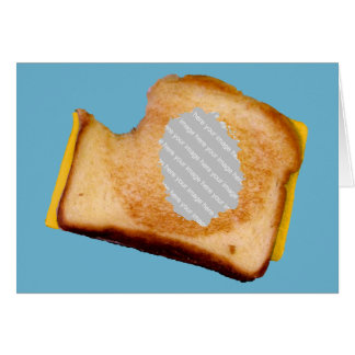 Customizable Grilled Cheese Sandwich Card