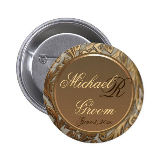 Customizable Grooms Elegant Keepsake Button