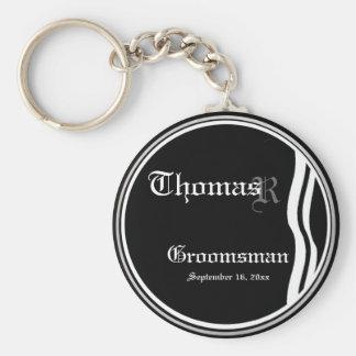 Customizable Groomsman Keepsake Keychain