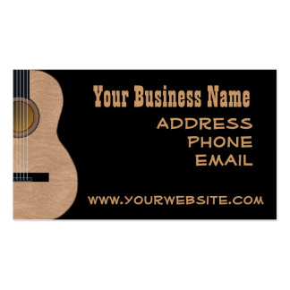CUSTOMIZABLE Guitar Music Business Cards