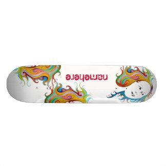 Customizable: Hair style Skate Board