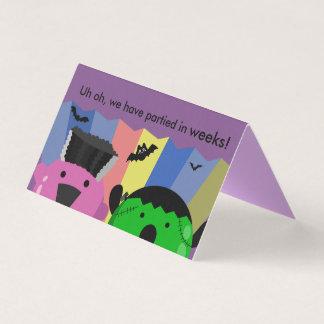 Customizable Halloween - Cute Mochi Friends Card