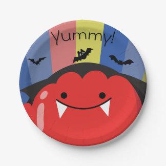 Customizable Halloween - Cute Mochi Friends Paper Plate