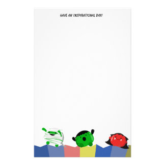 Customizable Halloween - Cute Mochi Friends Stationery