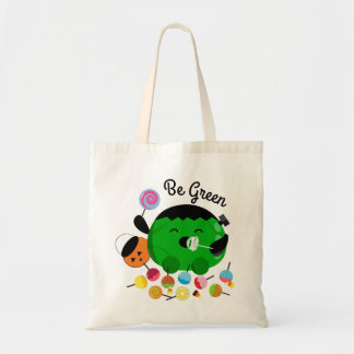 Customizable Halloween - Frankenstein and Candies Tote Bag