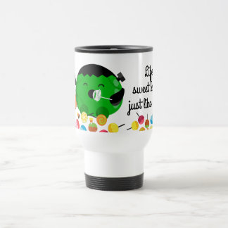 Customizable Halloween - Frankenstein and Candies Travel Mug