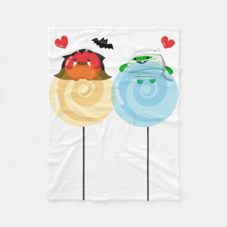 Customizable Halloween - Mochi Candy Lovers Fleece Blanket