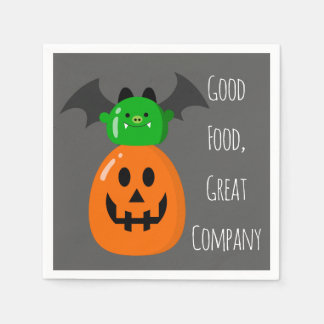 Customizable Halloween - Mochi Haunted House Disposable Serviettes