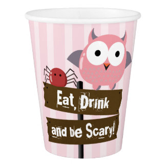 Customizable Halloween - Mochi Haunted House Paper Cup