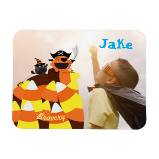 Customizable Halloween - Pirate Courage Magnet