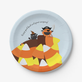 Customizable Halloween - Pirate Courage Paper Plate
