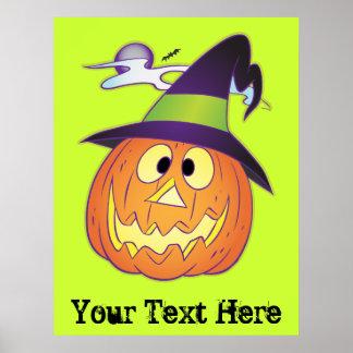Customizable Halloween Pumpkin Poster