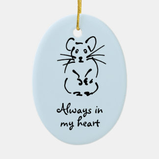 Customizable Hamster Memorial Ornament