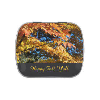 Customizable Happy Fall Jelly Belly Candy Tin
