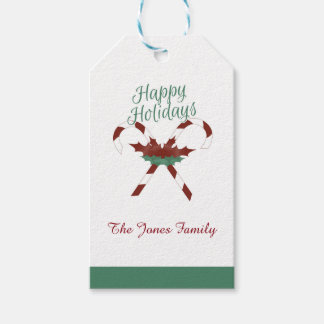 Customizable Happy Holidays Gift Tag Label