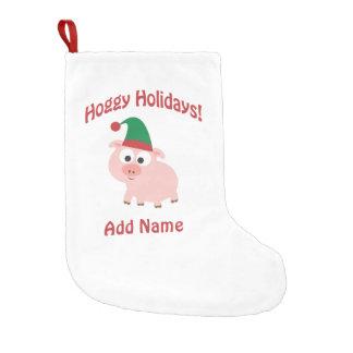 Customizable Happy Holidays! Pig elf