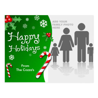 CUSTOMIZABLE Happy Holidays Post Cards