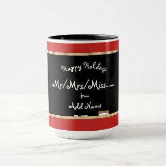 Customizable Happy Holidays Teachers Mug