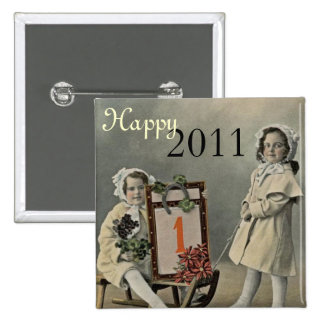 Customizable Happy New Year Pinback Buttons
