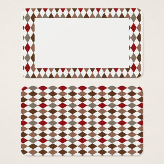 Customizable Harlequin Diamond Border Blank Card