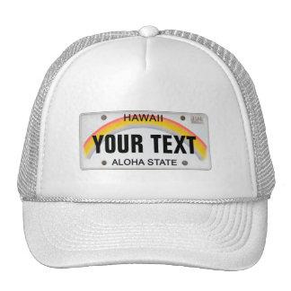 Customizable Hawaiian License Plate Mesh Hats