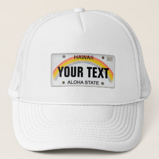 (Customizable) Hawaiian License Plate Trucker Hat