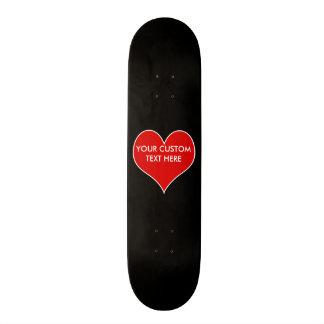 Customizable Heart Skate Board Decks