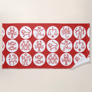 Customizable Hieroglyphics Beach Towel