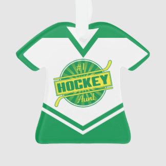 Customizable Hockey Aunt Jersey Ornament