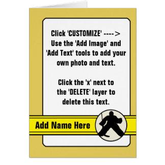 Customizable Hockey Goalie Trading Card