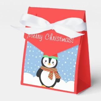Customizable Holiday Penguin Favour Box