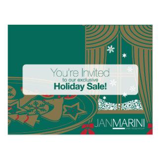 Customizable Holiday Sale Postcard