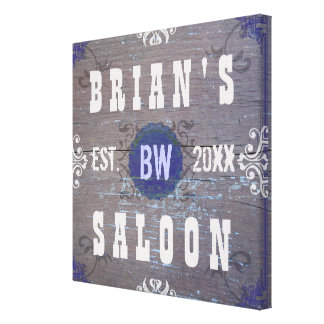 Customizable Home Bar Beer Saloon Canvas Print