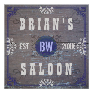Customizable Home Bar Beer Saloon Poster